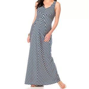 Motherhood Maternity Chevron Striped Maxi Dress XL